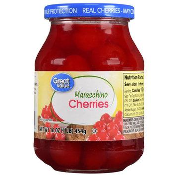 Great Value Maraschino Cherries, 16 Oz