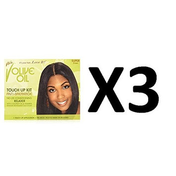 [ LIMITED PACK OF 3] VITALE OLIVE TOUCH UP KIT ANTI-BREAKAGE RELAXER SUPER: Beauty