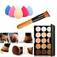 Demarkt 15 Colors Makeup Concealer Contour Palette + Water Sponge Puff + Makeup Brush
