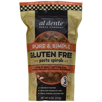 Al Dente PASTA SPIRALS, PURE & SIMPLE, (Pack of 6)