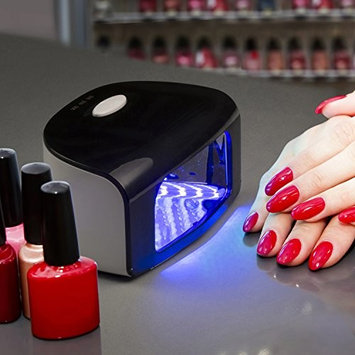 LED Nail Polish Dryer, Gel Polish Curing Lamp for fingernail and toenails with 90s, 60s and 30s Timer Settings, By: Belmint