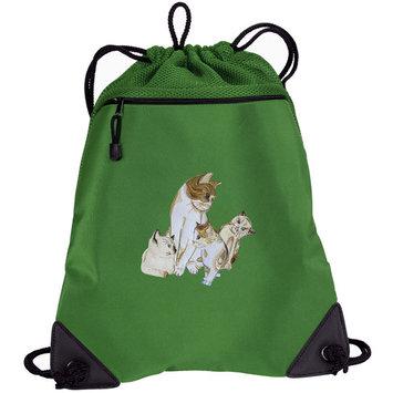 Cute Cats Drawstring Bags Cat Cinch Backpacks - Unique Mesh & Microfiber