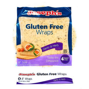 Joseph's Gluten Free Wraps Garlic & Herb, 4 Tortillas, 8 Inches [Garlic & Herb]