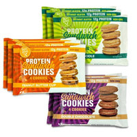 Buff Bake Protein Sandwhich Cookies Box of 9 -1.79oz (3 Flavor Sampler Pack)