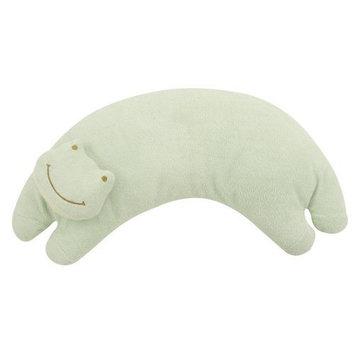 Angel Dear Curved Pillow, Green Froggy