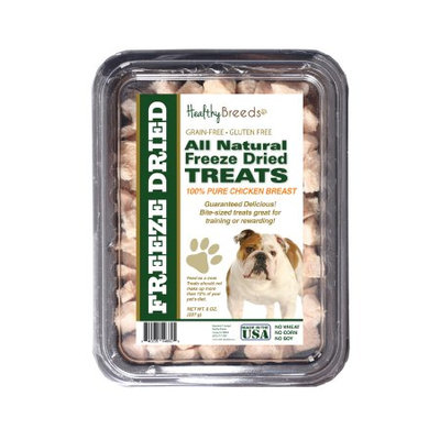 Healthy Breeds 840235146605 8 oz Bulldog All Natural Freeze Dried Treats Chicken Breast