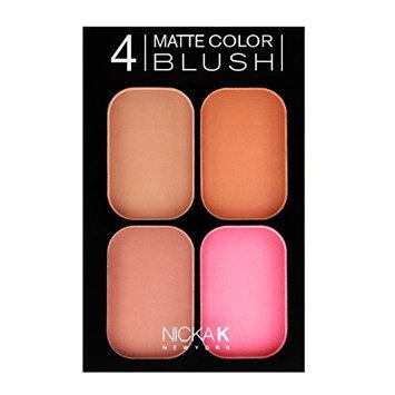 NICKA K 4 Matte Color Blush Set CBM02