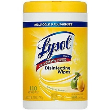 Reckitt Benckiser 192008215915 Lysol Disinfecting Wipes Lemon & Lime Blossom - Case of 12