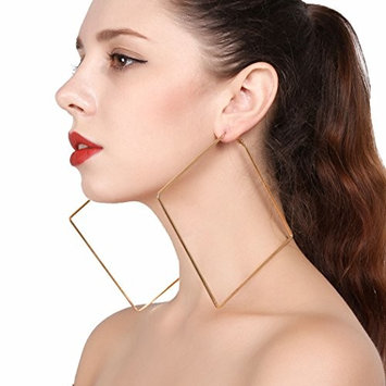 Jovono Simple Empty Large Rhombus Earrings for Women and Girls (G
