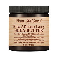 African Shea Butter Raw Unrefined 100% Pure Natural Organic Ivory Grade A - 4 oz - DIY Body Butters, Lotion, Cream, lip Balm & Soap Making Supplies, Eczema & Psoriasis Aid, Stretch Mark Product
