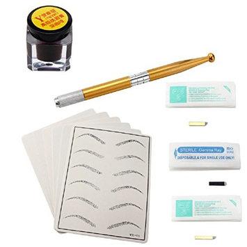 Microblading Permanent 3D Makeup Eyebrow Tattoo Needle Pen Pigment Kit