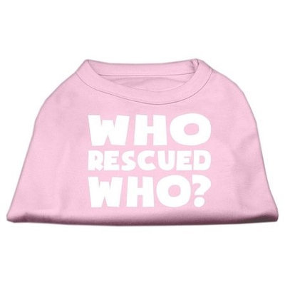 Ahi Who Rescued Who Screen Print Shirt Light Pink Med (12)