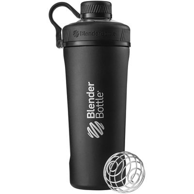 Blender Bottle Radian 26 oz. Stainless Steel Shaker w/ Loop Top - Matte Black