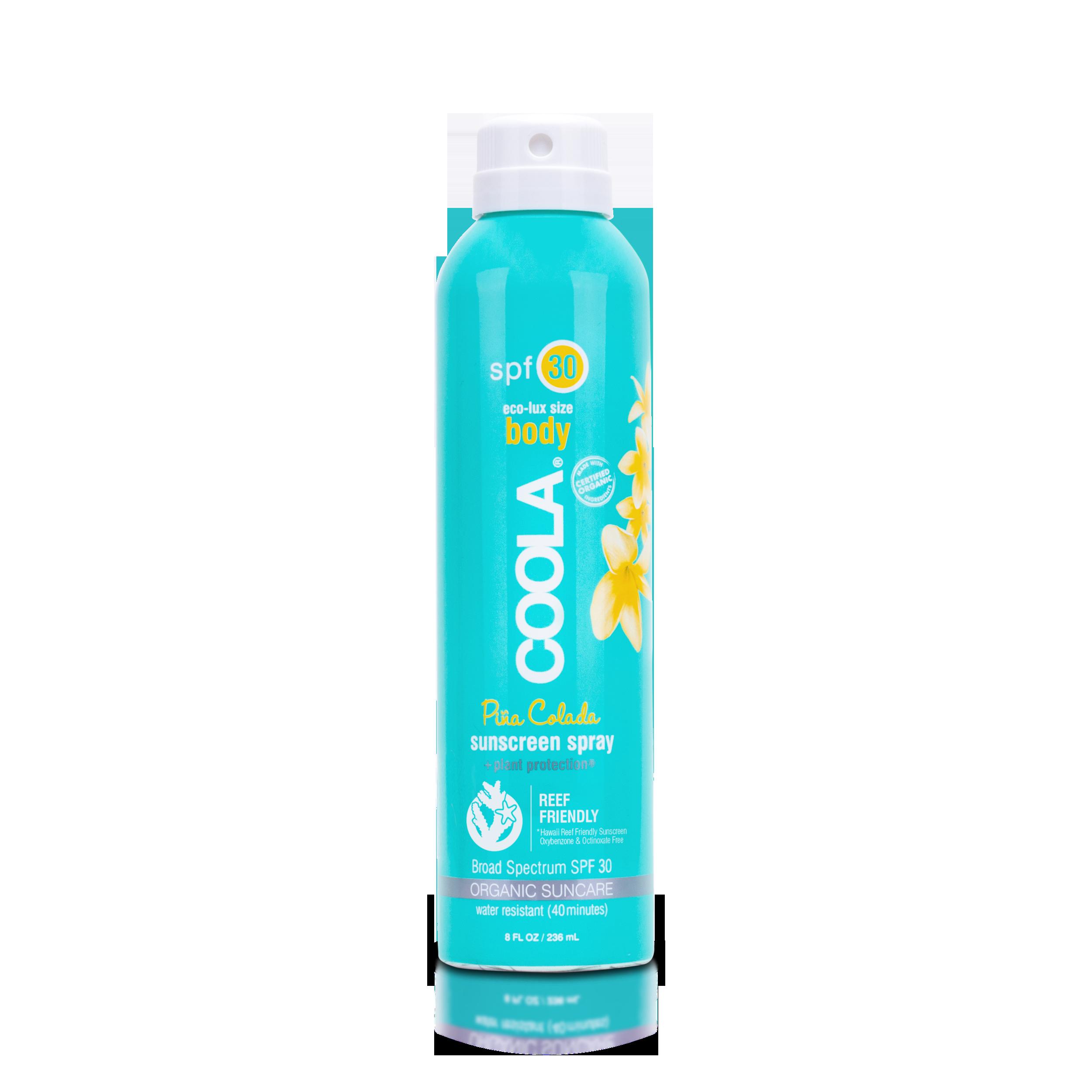 COOLA Eco-Lux Body SPF 30 Pina Colada Organic Sunscreen Spray