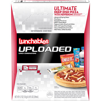 Lunchables Uploaded Ultimate Deep Dish Pepperoni Pizza Lunch Combination