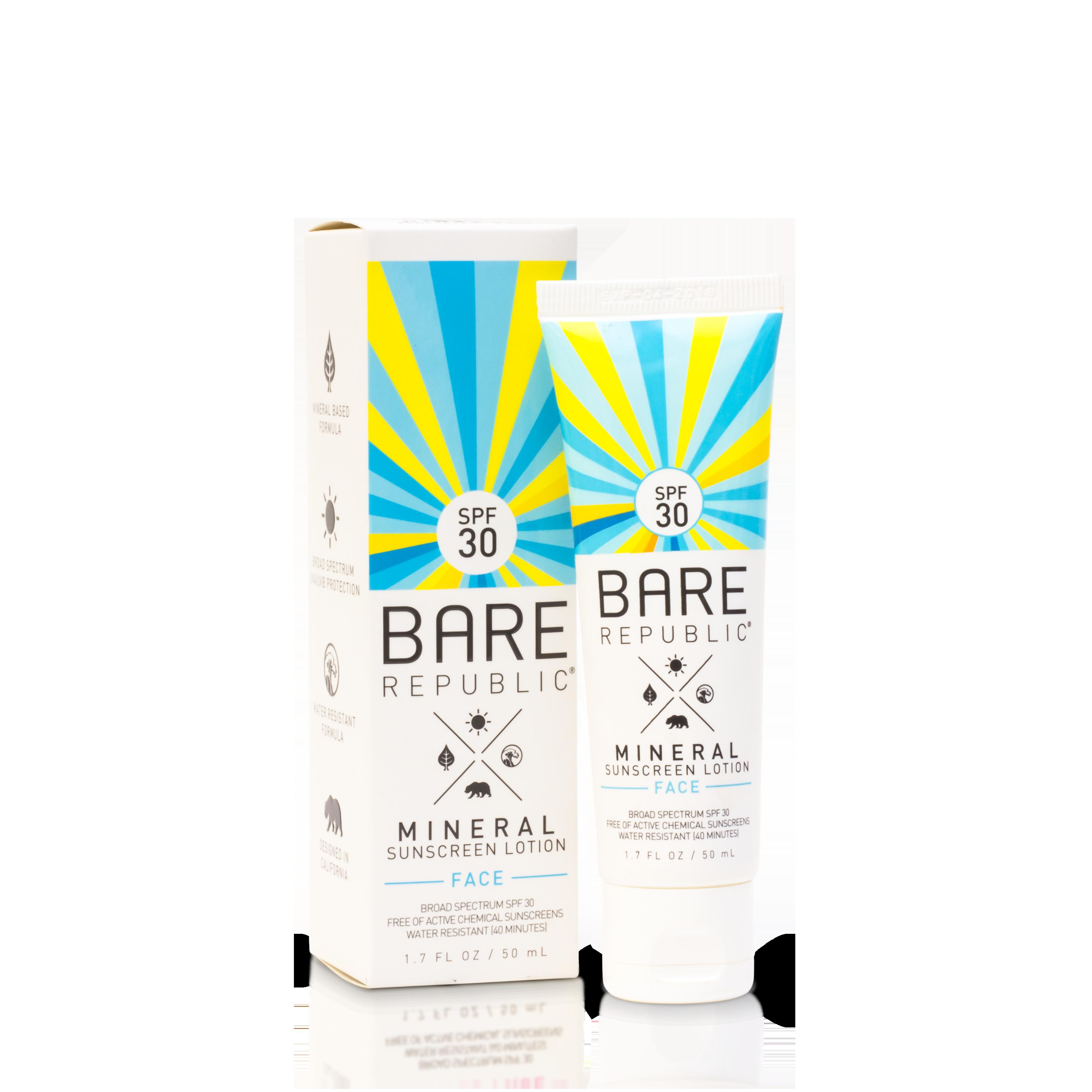 Bare Republic Mineral SPF 30 Face Sunscreen Lotion