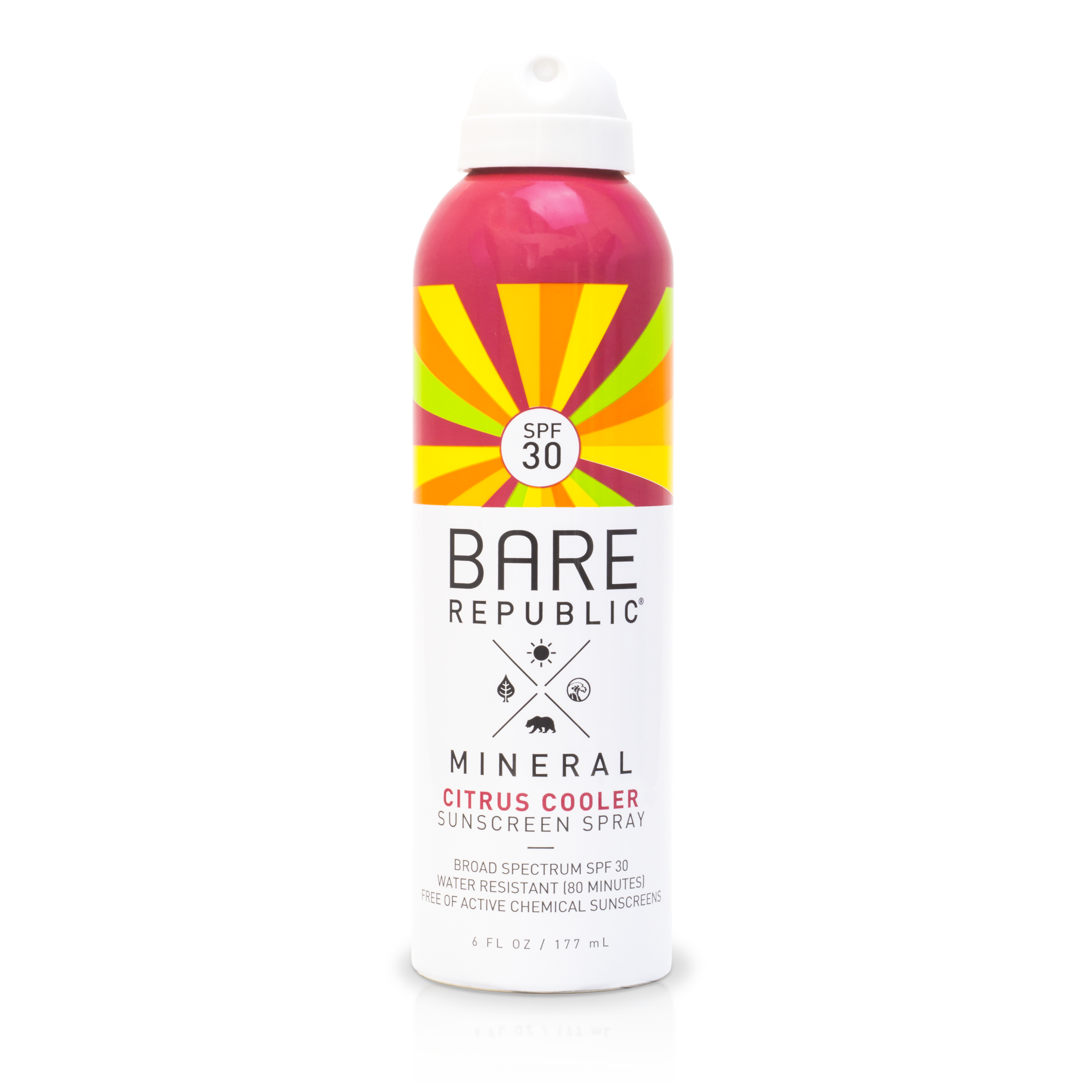 Bare Republic Mineral SPF 30 Sport Citrus Cooler Sunscreen Spray