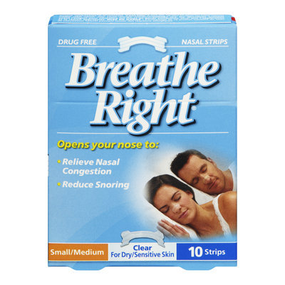 Breathe Right Nasal Strips, Small/Medium, Clear, Drug Free