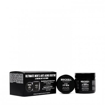 Brickell Men's Products Brickell Men's Ultimate Anti-Aging Routine For Men, Revitalizing Anti-Aging and Restoring Eye Cream, 2 Ct