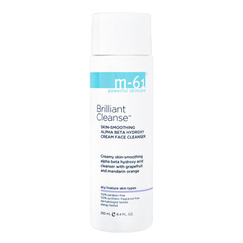 m-61 by Bluemercury Brilliant Cleanse - Skin-Smoothing Alpha Beata Hydroxy Cream Face Cleanser, 8.4 oz