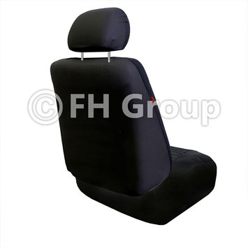 Fh Group Lowback Flat Cloth Auto Seat Covers w. Floor Mats Blue