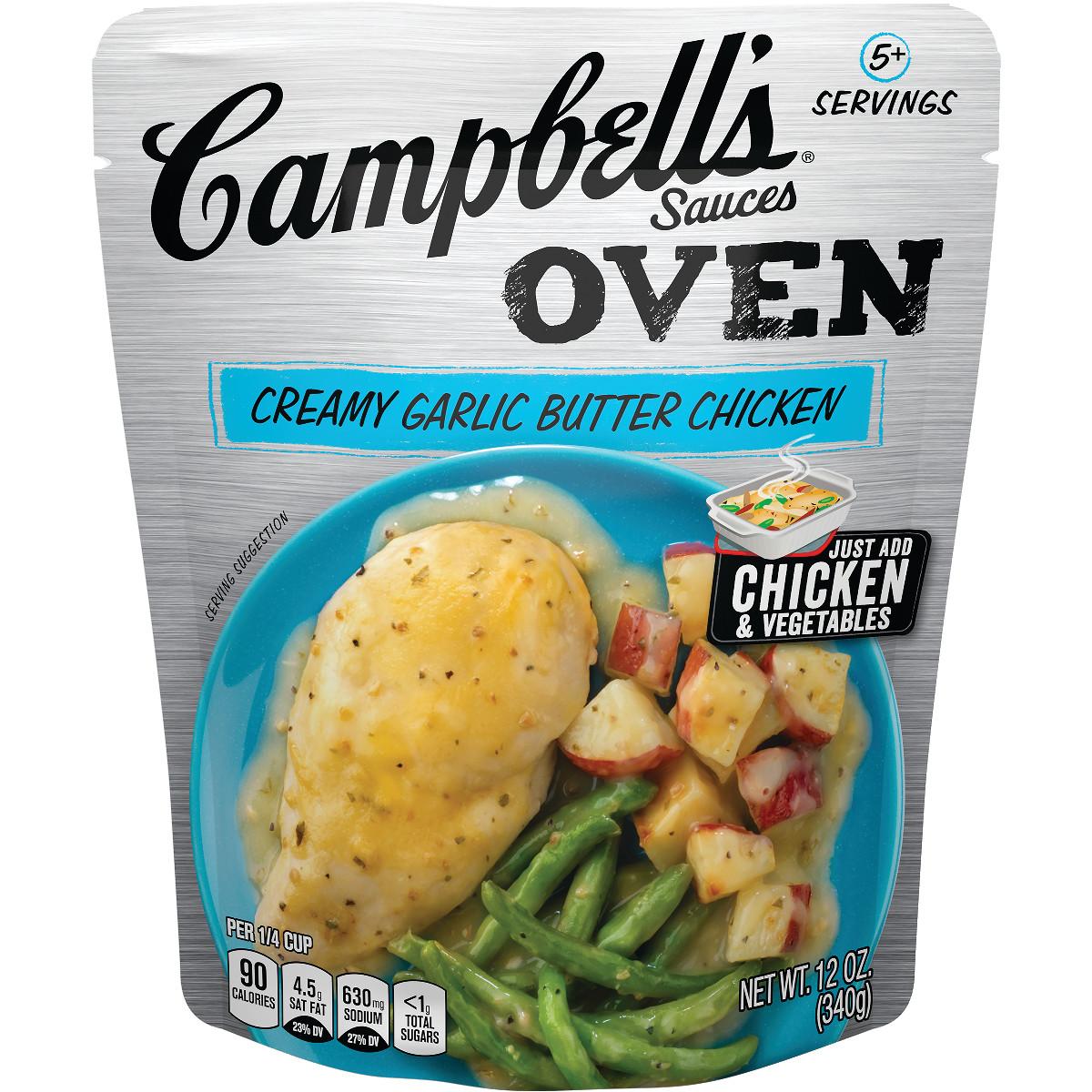 Campbell's® Oven Sauces Creamy Garlic Butter Chicken, 12 oz.