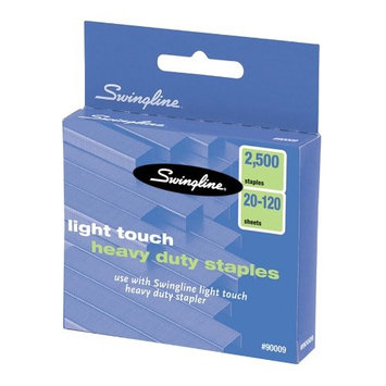 Swingline Lighttouch Heavy Duty Staples - 100 Per Strip - 0.63