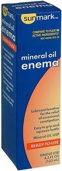sunmark Mineral Oil USP Enema, 4.5 oz.