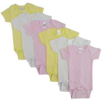 Bambini Pastel Girls Short Sleeve 6 Pack