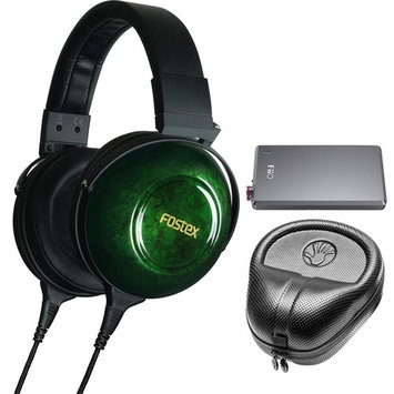 Fostex TH-900mk2 Premium Stereo Headphones Green + A5 Headphone Amplifier & Case