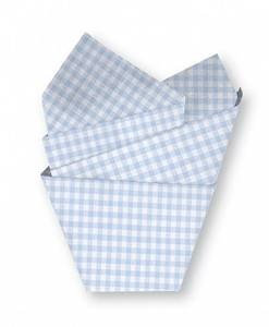 Cr Gibson C.R. Gibson Tissue Paper (Blue Gingham) - Printed