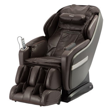 TITAN OS-Pro Summit Massage Chair with L-Track Massage Function - Brown