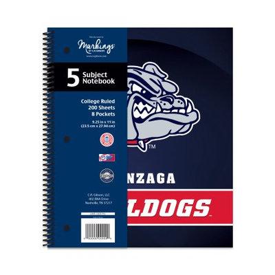 Cr Gibson NCAA Gonzaga Bulldogs 5 Subject Spiral Notebook, 200 Sheets, College Rule