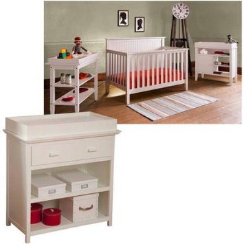 Lolly & Me Lolly and Me Americana 4-in-1 Fixed-Side Convertible Crib, White