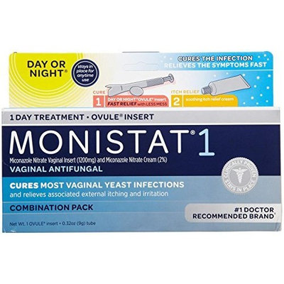 MONISTAT 1 Combination Pack Day or Night 1 EA - Buy Packs and SAVE (Pack of 3)