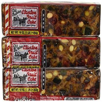 Claxton Bakery Fruit Cake Boxed 3 - 1 lb Dark Recipe Claxton Fruitcakes