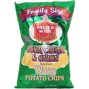 Better Made Wavy sour cream & onion flavored potato chips, 10.5-oz. family size bag
