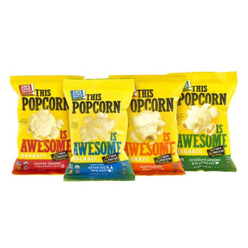 Awesome Organic Snacks This Popcorn Is Awesome Organic Popcorn Variety Pack, 1 oz, 20 Count