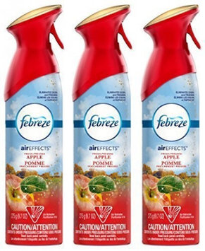 Febreze Air Effects - Fresh-Pressed Apple - Holiday Collection 2016 - Net Wt. 9.7 OZ (275 g) Per Can - (Pack of 3)