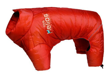 Helios Thunder-crackle Full-Body Waded-Plush Adjustable and 3M Reflective Dog Jacket, Grenadine Red, X-Large