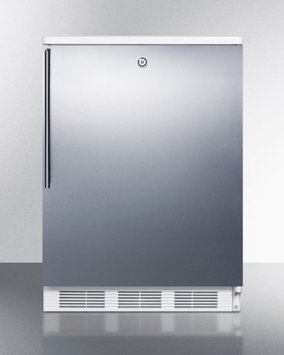 Summit CT66LBISSHV 5.1 Cu. Ft. Stainless Steel Undercounter Built-In Compact Refrigerator