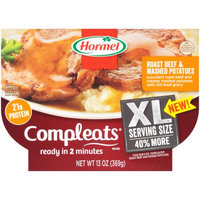 Hormel XL COMPLEATS ROASTED BEEF & MASHED POTATO 13 oz
