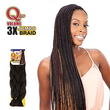 Shake N Go Que Volume 3X Tri Pack King Jumbo Braid Synthetic Hair (1B)