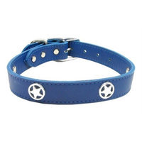 Mirage Pet Products 8301 22BL Western Star Leather Blue 22