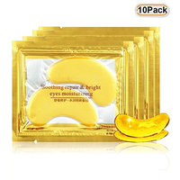 Collagen Eye Mask 10 Pair Gold Eye Mask Gel Collagen Mask Pads For Anti Aging, Dark Circles,Puffiness Eye Gold Patch with Anti-aging and Wrinkle Care Properties Reduce Dark Circles and Puffiness