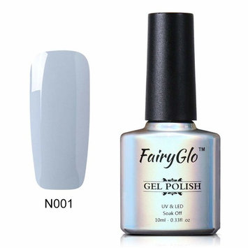Soak Off Nail Polish UV LED Grey Colour Nail Art Kit Gel Lacquer Varnish Sensational Manicure Decor Salon 10ml FairyGlo 001
