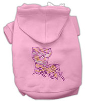 Mirage Pet Products 5444 MDPK Louisiana Rhinestone Hoodie Pink M 12
