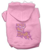 Mirage Pet Products 5444 XSPK Louisiana Rhinestone Hoodie Pink XS 8