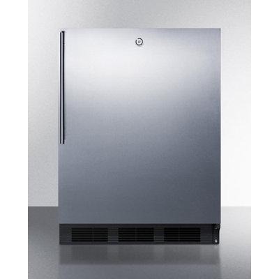 Summit ALB753LBLSSHV 5.5 Cu. Ft. Black Undercounter Built-In Compact Refrigerator