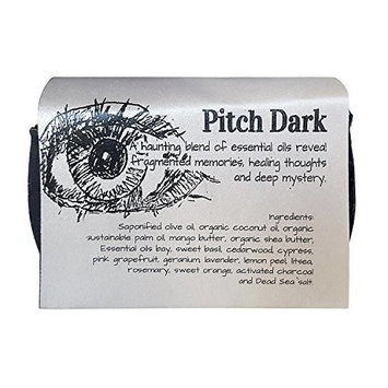 Pitch Dark - Not for the timid soul, activated charcoal, vegan soap with shea butter 5.8oz